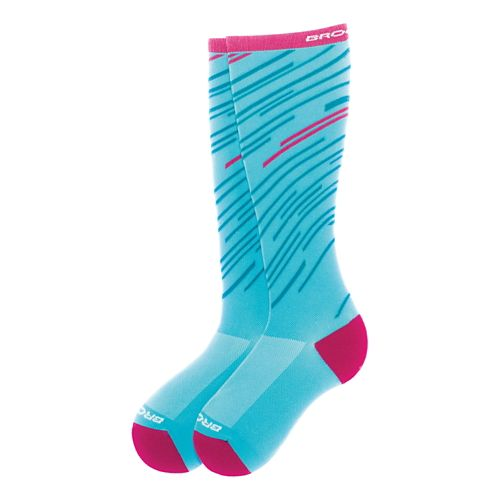 Brooks Fanatic Compression Sock Injury Recovery - Turqouise/Fuschia M