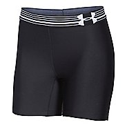 Womens Under Armour HeatGear Compression Mid Unlined Shorts