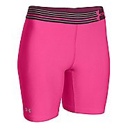 Womens Under Armour HeatGear Compression Long Unlined Shorts