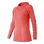 Womens New Balance M4M Seamless Hoodie & Sweatshirts Technical Tops