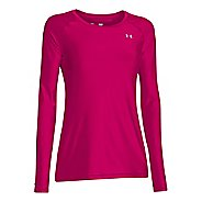 Womens Under Armour HeatGear Long Sleeve No Zip Technical Tops