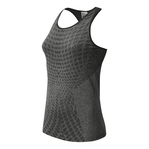 Womens New Balance M4M Seamless Tank Technical Tops - Black XS