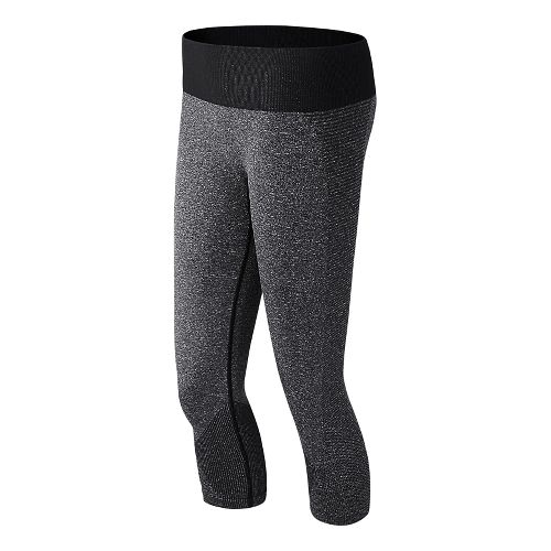 Womens New Balance M4M Seamless Capri Tights - Black XS