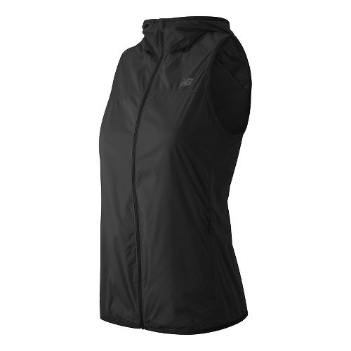 Womens New Balance Windcheater Running Vests - Black XL