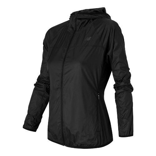 Womens New Balance Windcheater Jackets - Black XS