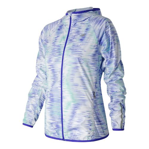 Womens New Balance Windcheater Jackets - Spectral Tech Print S