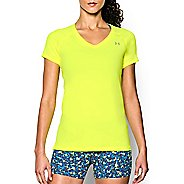 Womens Under Armour HeatGear Armour Mesh V-Neck Short Sleeve Technical Tops