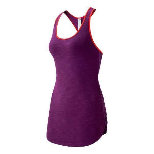 Womens New Balance Fashion Tank Technical Tops - Imperial Purple XS