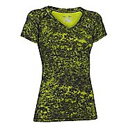 Womens Under Armour HeatGear Printed Mesh Shortsleeve Technical Tops