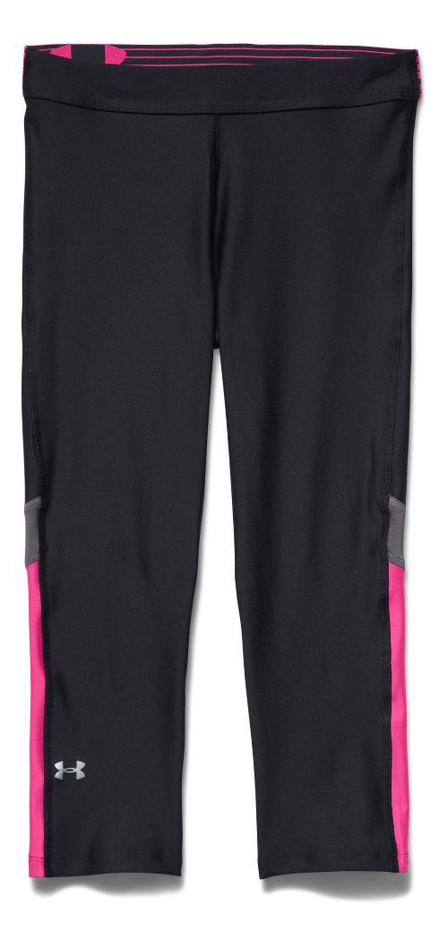 Womens Under Armour HeatGear Capri Tights - Black/Graphite S