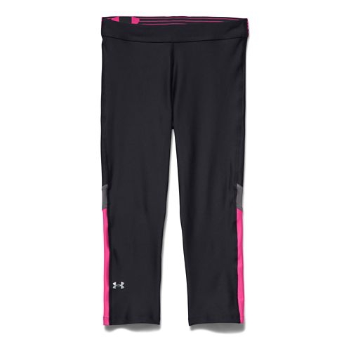 Womens Under Armour HeatGear Capri Tights - Black/Graphite M