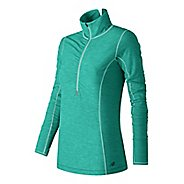 Womens New Balance Impact Half Zip Long Sleeve Technical Tops