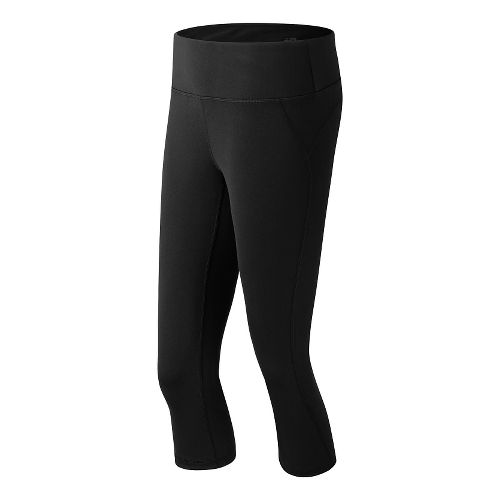 Womens New Balance Premium Performance Fitted Capris Tights - Black L