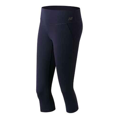 Womens New Balance Premium Performance Fitted Capris Tights - Pigment S