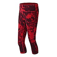 Womens New Balance Premium Performance Printed Fitted Capri Tights