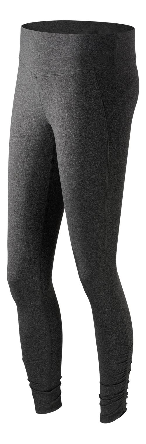Womens New Balance Premium Performance Fitted Tights & Leggings - Heather Charcoal S
