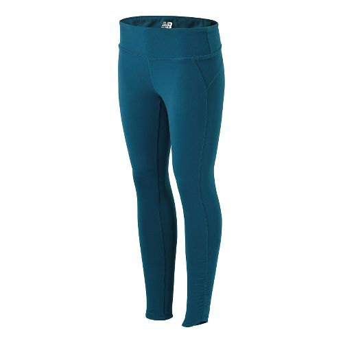 Womens New Balance Premium Performance Fitted Full Length Tights - Deep Water M