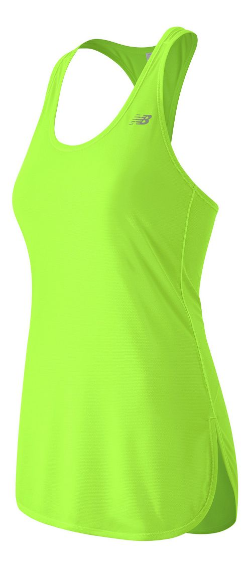 Womens New Balance Accelerate Tunic Sleeveless & Tank Technical Tops - Lime Glow S