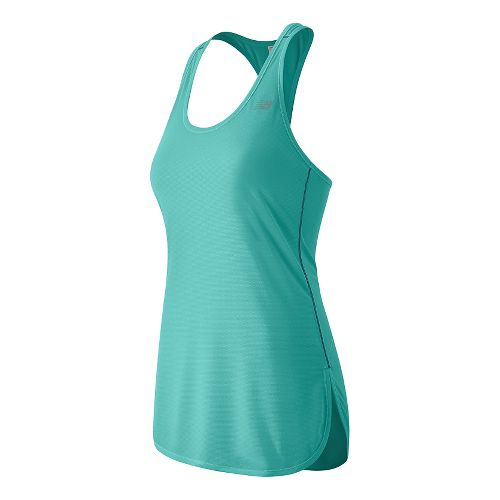 Womens New Balance Accelerate Tunic Sleeveless & Tank Technical Tops - Aquarius L