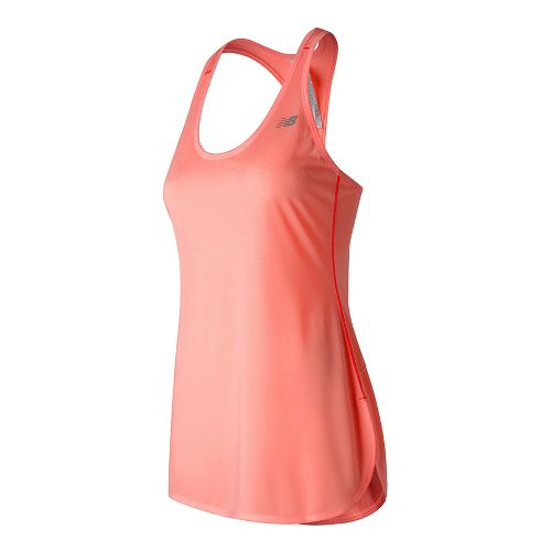 Womens New Balance Accelerate Tunic Sleeveless & Tank Technical Tops - Bleached Sunrise M