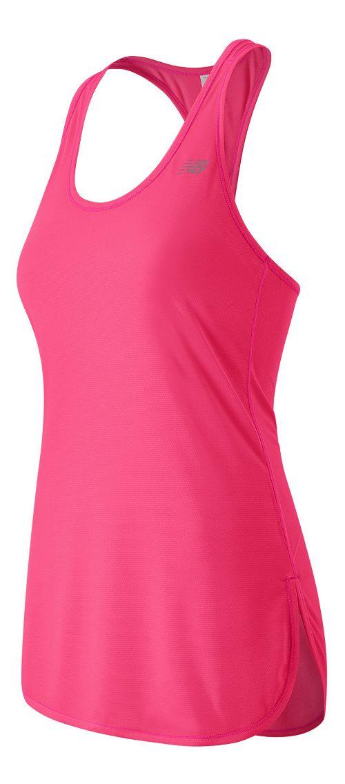 Womens New Balance Accelerate Tunic Sleeveless & Tank Technical Tops - Alpha Pink M