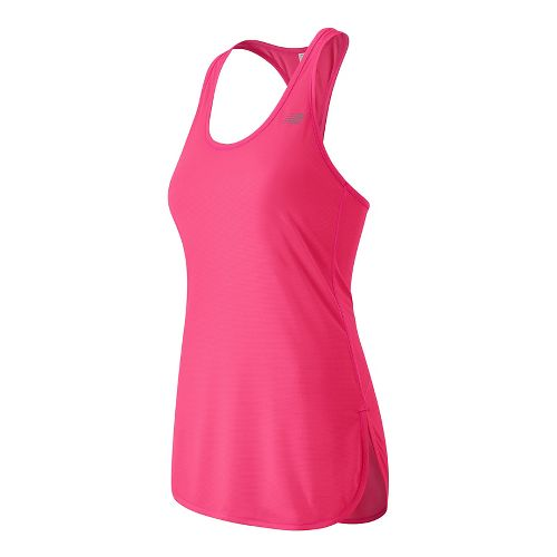 Womens New Balance Accelerate Tunic Sleeveless & Tank Technical Tops - Alpha Pink M