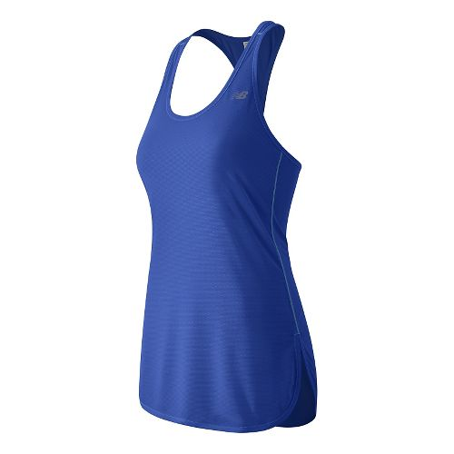 Womens New Balance Accelerate Tunic Sleeveless & Tank Technical Tops - Bluefin XL