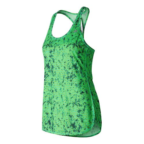 Womens New Balance Accelerate Tunic Graphic Sleeveless & Tank Technical Tops - Lime Glow Print ...