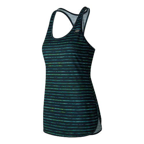 Womens New Balance Accelerate Tunic Graphic Sleeveless & Tank Technical Tops - Galaxy L