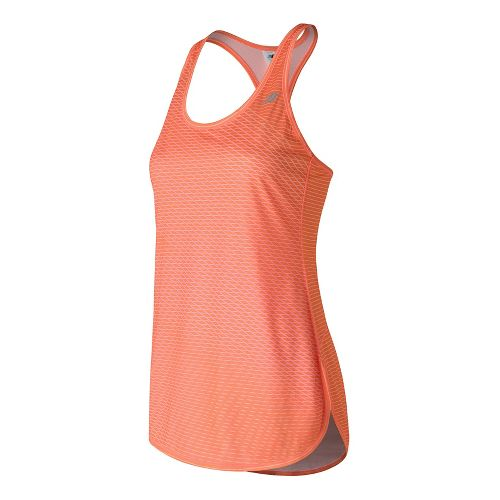 Womens New Balance Accelerate Tunic Graphic Sleeveless & Tank Technical Tops - Sunrise Print M ...