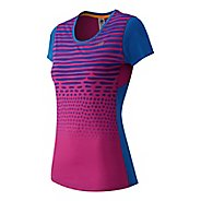 Womens New Balance Accelerate Graphic Short Sleeve Technical Tops