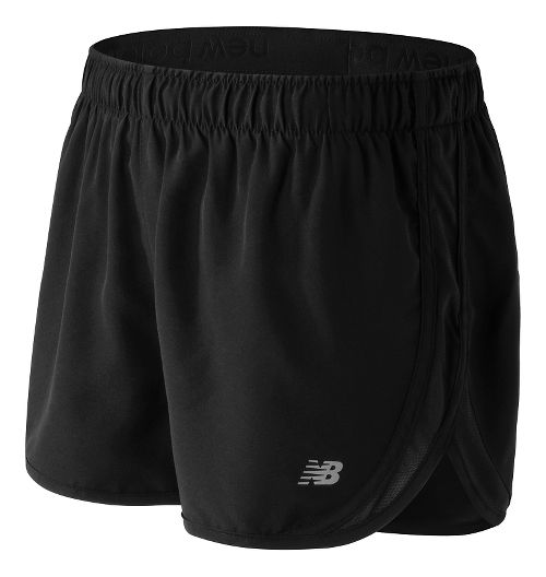 Womens New Balance Accelerate 2.5'' Lined Shorts - Black L