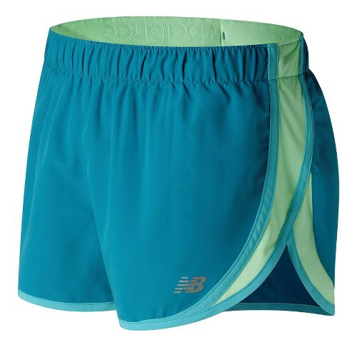 Womens New Balance Accelerate 2.5'' Lined Shorts - Deep Ozone Blue L