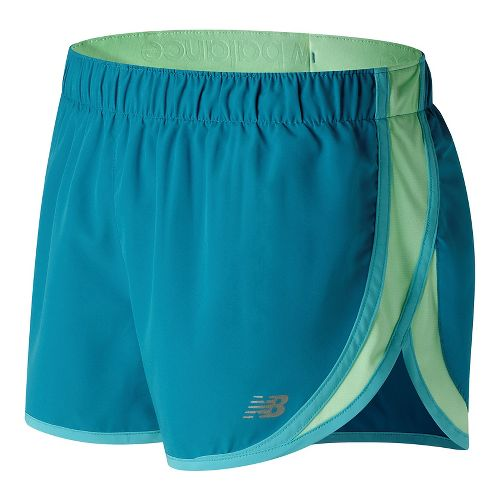 Womens New Balance Accelerate 2.5'' Lined Shorts - Deep Ozone Blue XL