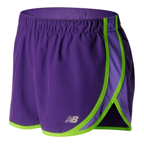 Womens New Balance Accelerate 2.5'' Lined Shorts - Black Plum L