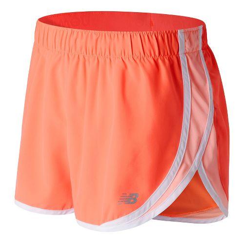 Womens New Balance Accelerate 2.5'' Lined Shorts - Sunrise XS
