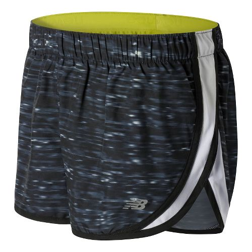 Womens New Balance Accelerate 2.5'' Printed Lined Shorts - Black Multi M
