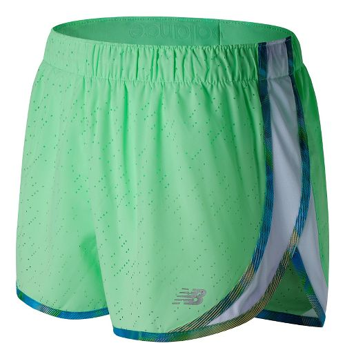 Womens New Balance Accelerate 2.5'' Printed Lined Shorts - Agave Green M