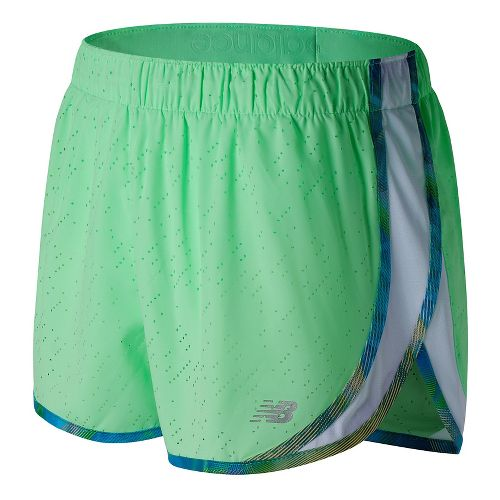 Womens New Balance Accelerate 2.5'' Printed Lined Shorts - Agave Green XS