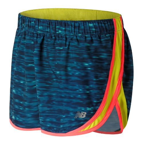 Womens New Balance Accelerate 2.5'' Printed Lined Shorts - Castaway Multi XS