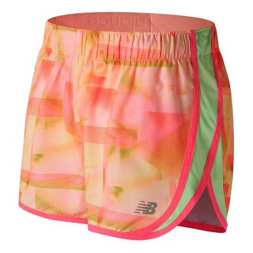 Womens New Balance Accelerate 2.5'' Printed Lined Shorts - Sunrise Print S