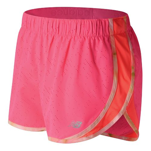 Womens New Balance Accelerate 2.5'' Printed Lined Shorts - Alpha Pink S