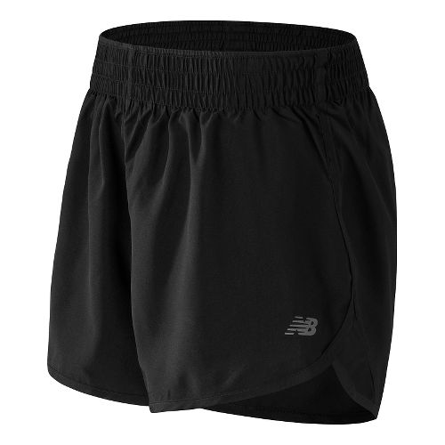 Womens New Balance Accelerate 5'' Lined Shorts - Black M