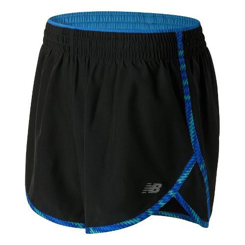 Womens New Balance Accelerate 5'' Lined Shorts - Majestic Blue XS