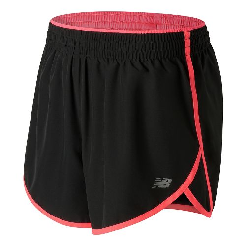 Womens New Balance Accelerate 5'' Lined Shorts - Guava XS