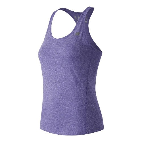 Womens New Balance Heathered Sleeveless & Tank Technical Tops - Spectral Heather XL