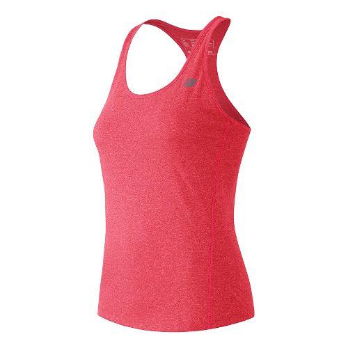 Womens New Balance Heathered Sleeveless & Tank Technical Tops - Guava Heather M