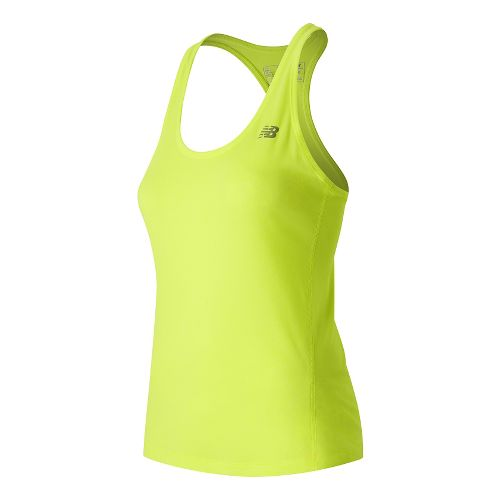 Womens New Balance Heathered Sleeveless & Tank Technical Tops - Firefly Heather L