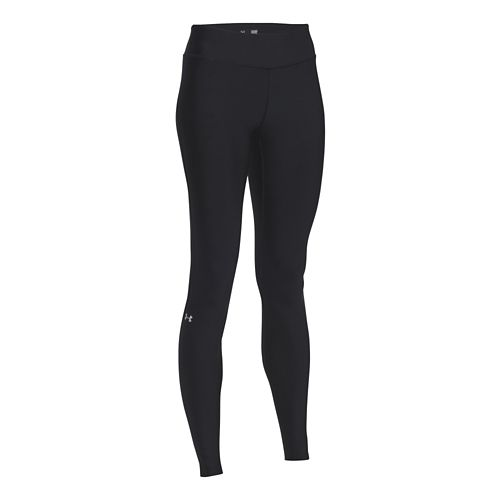 Womens Under Armour HeatGear Legging Full Length Tights - Black/Silver L