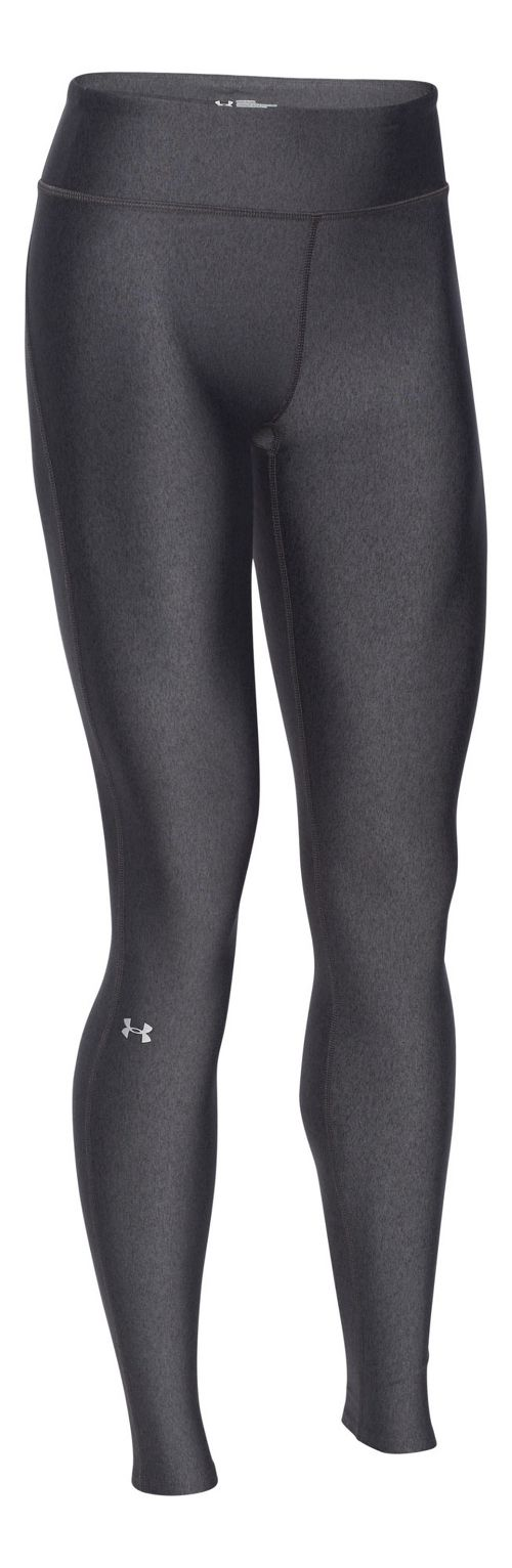 Womens Under Armour HeatGear Legging Full Length Tights - Carbon/Silver M